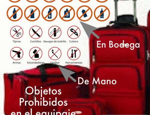 OBJETOS PROHIBIDOS EN EL EQUIPAJE